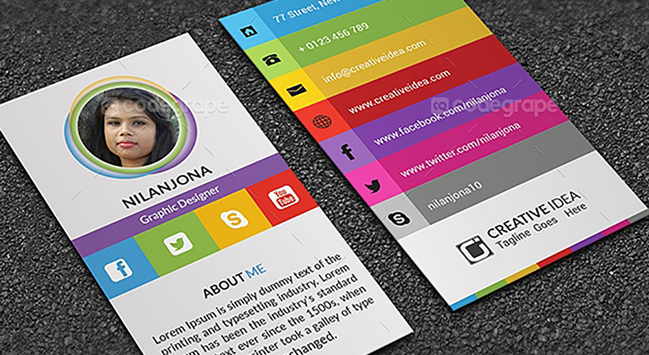 Personal business card codegrape community blog personal business card colourmoves Images
