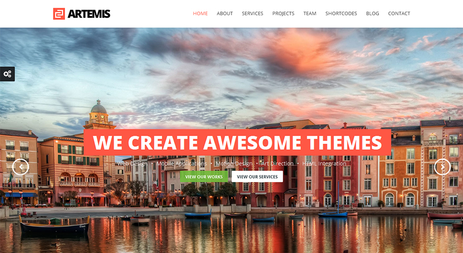 Artemis Responsive One Page Parallax WordPress Theme - CodeGrape ...