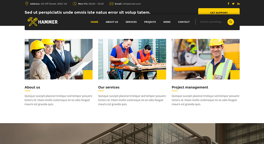 free file of july 2016 hammer construction company html theme